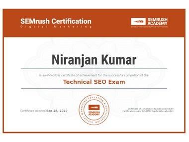Technical SEO certification
