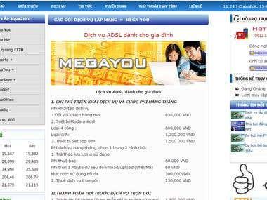 FPT Telecom Hai Phong website