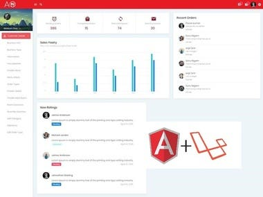 Admin Panel( Angular + Laravel)