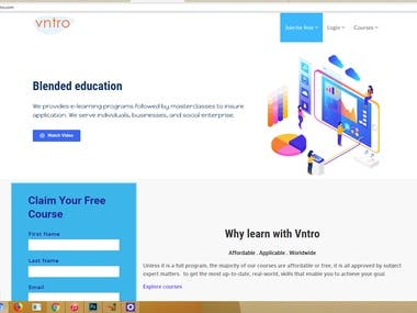 VNTRO e learning website