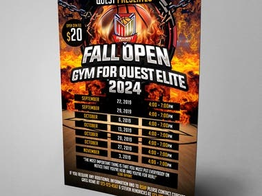 Fall Open GYM FOR QUEST ELITE 2024