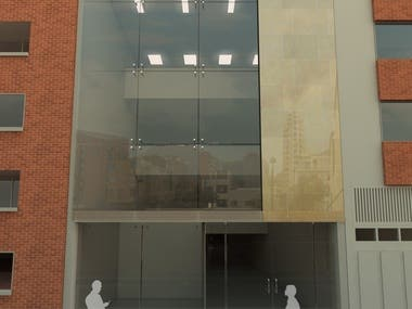 Render Fachada edificio