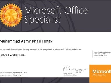 MS Office Specialist