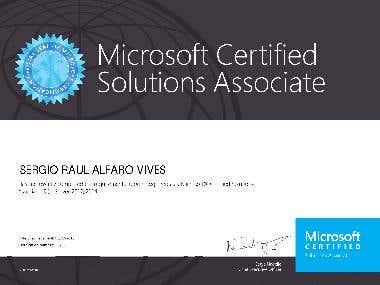 MCSA SQL Server 2014 Certificate