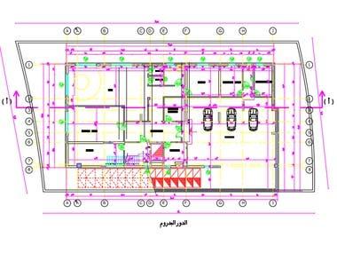 Villa design and auto cad drawing