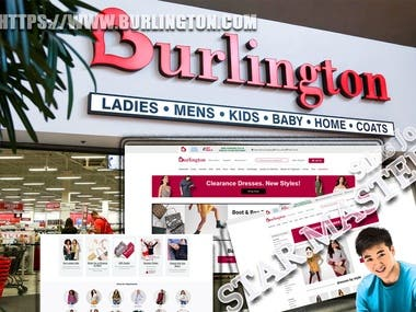 Burlington Shopping WebSite