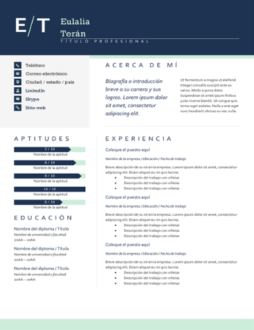Resume sample #1