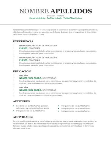Resume sample #4