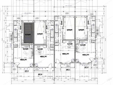 Nevada Residential Project: Floor & roof plans, elevations