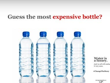 Advertising Design | #ExpensiveBottle
