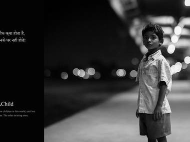 Advertising Creative Design | #AdoptAChild Campaign