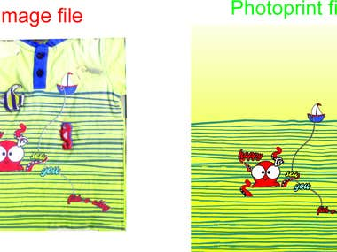 Image to photoprint conversion