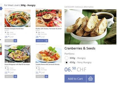 Food online store website design