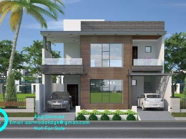 My 3D Modeling & Rendering 3D Exterior Elevation Project