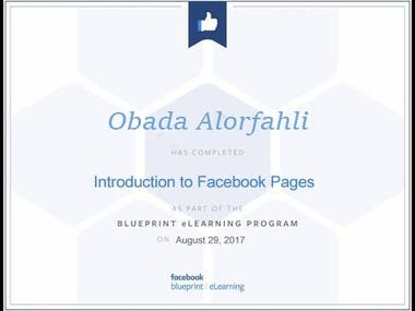certification from facebook