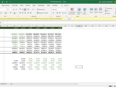 Designed for financial analysts in investment banking