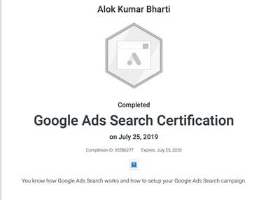 Google Search ads Certification