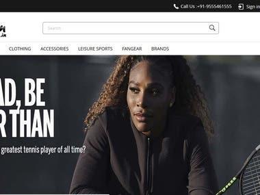 Website Development for Sports Goods