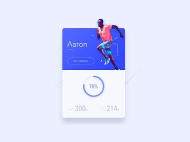 Running app UI design