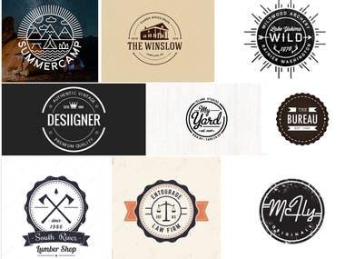 Badge Logo Design Grid