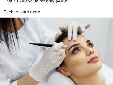 Facebook Ad: Microblading