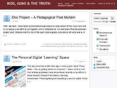 A site developed using Wordpress CMS ...