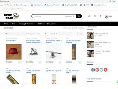 E-coommerce Wordpress