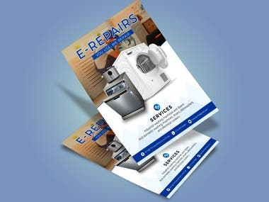 Flyer Design and Self Created photoshop mockup