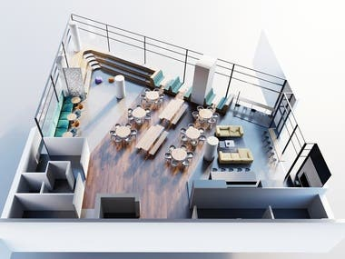 Cafe Design and Rendering
