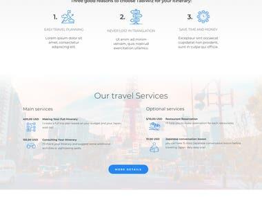 Tabiwiz website PSD to HTML