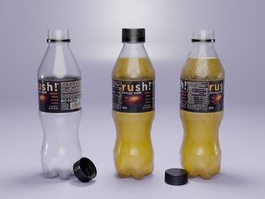 3D Plastic Bottle Product Visualization