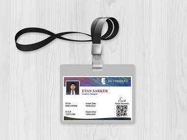 ID Card Design( Landsacpe and portrait)