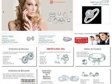 PrestaShop eCommerce project for Diamond Jewellery
