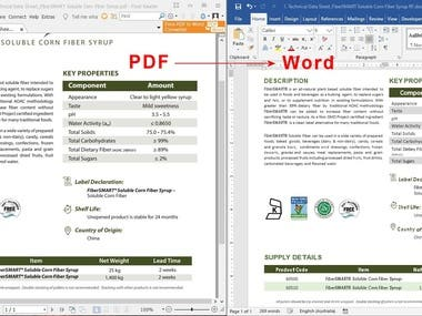 PDF conversion to DOCX