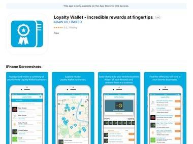 iOS APP - Loyalty Wallet