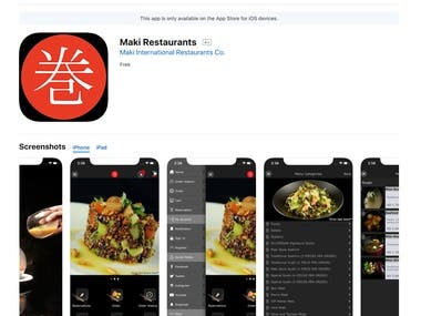 iOS - Maki Restaurants