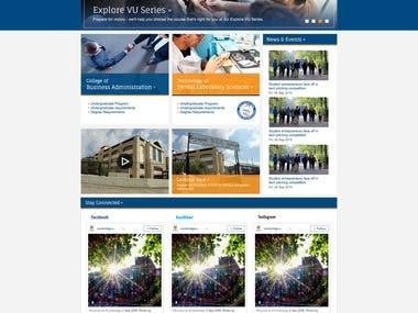 Sidoon SUC University Website Layout Design