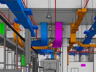 Chemical Process 3D Design(Revit MEP)