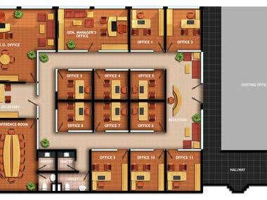 2D Floor Plan Layout