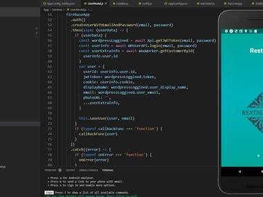 React Native list service app