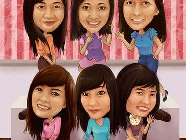Cute caricatures
