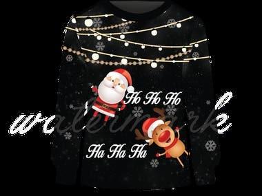 sweater design for the chritsmas theme