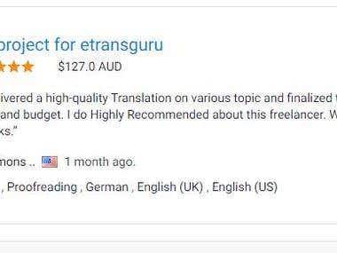 Translation English To German