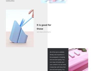 Bloom Pencil Case Website