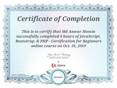 JavaScript, Bootstrap, & PHP - Certification