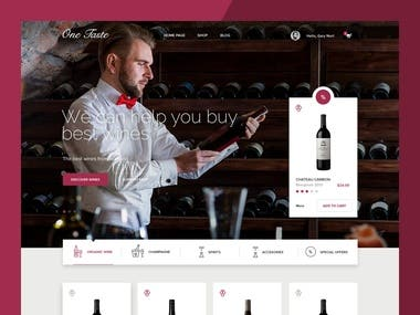 Wine shop - eCommerce website