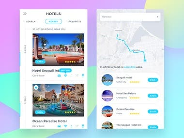 Hotel booking app - iOS/Android