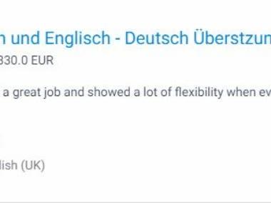 Deutsch - Englisch und Englisch - Deutsch Überstzungen