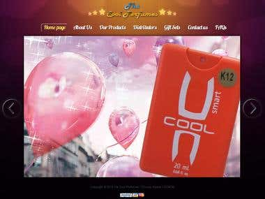 Cool Perfumes Web Design