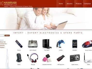 E-Commerce webdesign for UAE based company